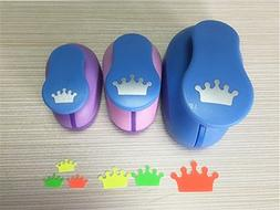 Fascola 3PCS  Crown shape craft punch set cortador de papel