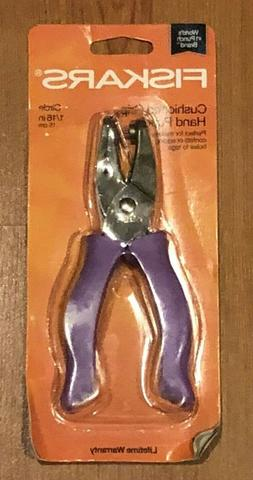 Fiskars 23517097J Circle Hand Punch, 1/8 Inch, Purple