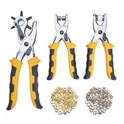 NBEADS 3pcs of 3 in 1 Leather Hole Punch Plier Tool, Craftak