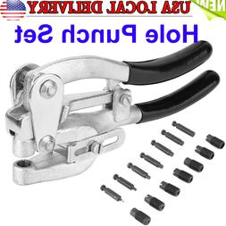 1 T Power Metal Hole Punch Kit Heavy Duty Hand Held Tool for