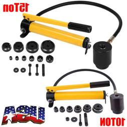 10/15 Ton 6/10 Dies Hydraulic Knockout Punch Driver Kit Hand