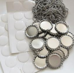 Bottle Caps,Beads and More  10 Flat Bottle Cap pendants, 10