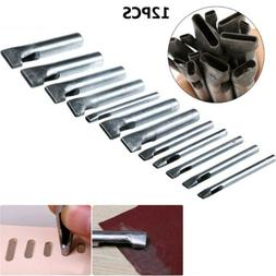 12pc Leather Hollow Hole Punch Set Tack Tools Cutters For Wa