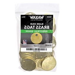 """1X035 50 Pack - 1.50"""" Solid Brass Stamping Tags Industrial"""
