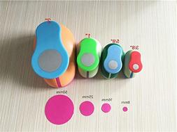 Fascola 4PCS  Circle craft punch set cortador de papel de sc