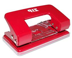 Zip 2 Hole Punch with 8 Sheet Capacity - Red