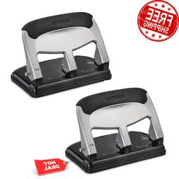 2 PACK 40 Sheet 3-Hole Punch EZ Squeeze Technology 50% Less
