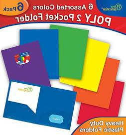 New Generation 2 Pocket Poly/Plastic Folder, Heavy Duty Fold
