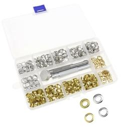200 Set Hole Punch Tool Eyelet Washer with Box for Tents Tar