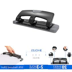 Swingline A7074133 3 Hole Punch, SmartTouch, Low Force, 20 S