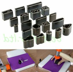 39 Styles Metal Hollow Hole Die Punches Leather Craft Rectan