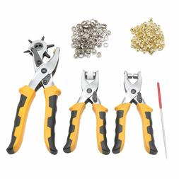 3Pcs Leather Belt Hole Punch Plier Eyelet Pliers Household T