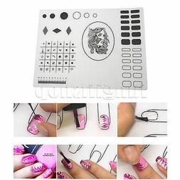 40x30cm Nail Art Silicone Plate Pad Stamp Transfer Mat Stamp