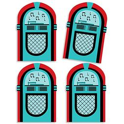 50's Sock Hop - Jukebox Decorations DIY 1950s Rock N Roll Pa