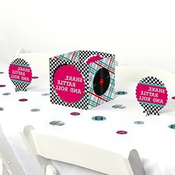 50's Sock Hop - 1950s Rock N Roll Party Centerpiece & Table