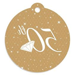50th Anniversary - Wedding Anniversary Party Favor Gift Tags