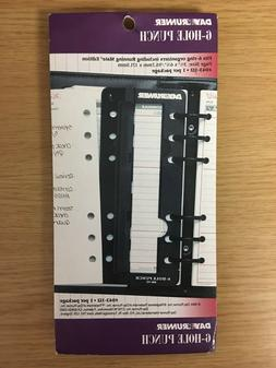 """Day Runner 6-Hole Punch for 3¾"""" x 6¾"""" 6 Ring Organizers -"""