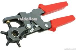 """6 Sized 9-1/2"""" Leather Hole Punch Hand Pliers Belt Punches R"""