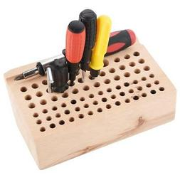76 Holes Leather Craft Tool Punch Tool Wood Rack Wooden Stan