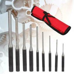 9 Pcs Durable Multi Size Leather Hole Punch Tool Set Roll Pi