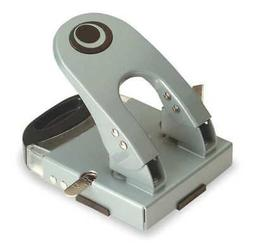 OFFICEMATE 90101 Two-Hole Paper Punch, Silver