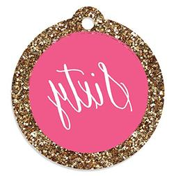 Big Dot of Happiness Chic 60th Birthday - Pink and Gold - Bi