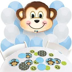 Big Dot of Happiness Monkey Boy - Confetti and Balloon Party