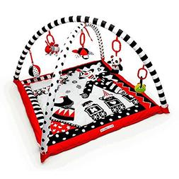 Black, White & Red Activity 3D Playmat & Gym