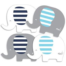 Blue Elephant - Decorations DIY Boy Baby Shower or Birthday