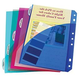 C-Line Mini Size 5-Tab Poly Index Dividers with Pockets, for