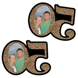 Custom Adult 50th Birthday - Gold - Photo Decorations DIY Pa