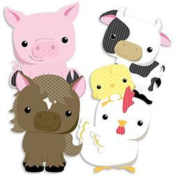 Farm Animals - Cow, Horse, Pig and Chicken Decorations DIY B