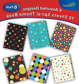 New Generation - Polka Dotty - wirebound Spiral Notebook,1 S