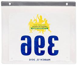 Race Bib Display Sleeves - 24 Pack Clear PVC Marathon Bib In