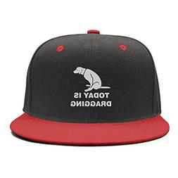 XCVJOIWERNM Today is Dragging Dad Flat Trucker Hat Red