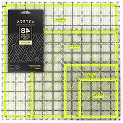 acrylic quilters ruler & non slip rings - double-colored gri
