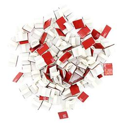 Adhesive Reusable White Cable Clips 100 Pack – Self Lockin