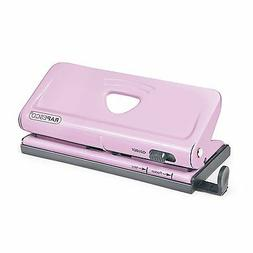 Rapesco Adjustable, 6 Hole Paper Punches, Pink 1322