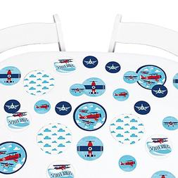Big Dot of Happiness Taking Flight - Airplane - Vintage Plan