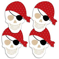 Beware of Pirates - Pirate Skull Decorations DIY Pirate Birt