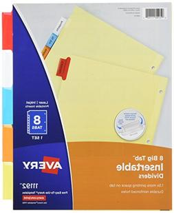 Avery Big Tab Insertable Dividers - 8 Tabs, 11192