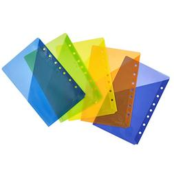 Avery Small Binder Pockets, Standard, 7-Hole Punched, Assort