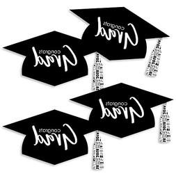Black & White Grad Hat - Best is Yet to Come - Graduation Ha