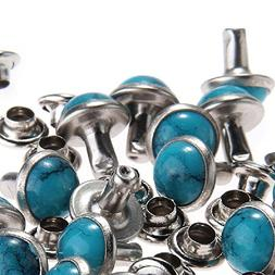 RUBYCA Blue Turquoise Rapid Rivets Studs DIY Leather-Craft f
