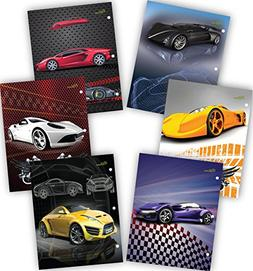 New Generation - Cars - 2 Pocket Folders/Portfolio 48 PACK L