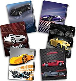 "New Generation - Cars - 1 Subject 70 Sheets 8"" x 10.5"" Wireb"