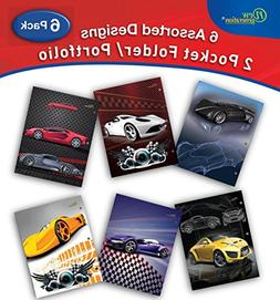 New Generation - Cars - 6 Pack, 2 Pocket Folder/Portfolio, 3