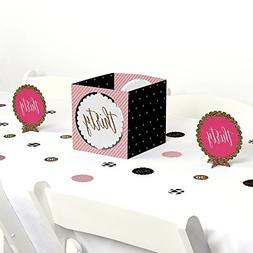 Big Dot of Happiness Chic 30th Birthday - Pink, Black and Go