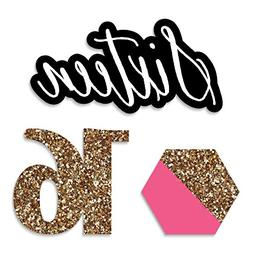 Chic 16th Birthday - Pink, Black and Gold - DIY Shaped Party