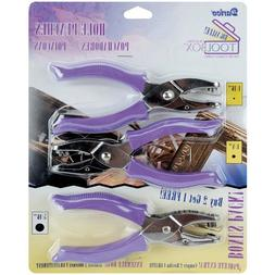 Darice Circle Hole Punches with Purple Plastic Handles